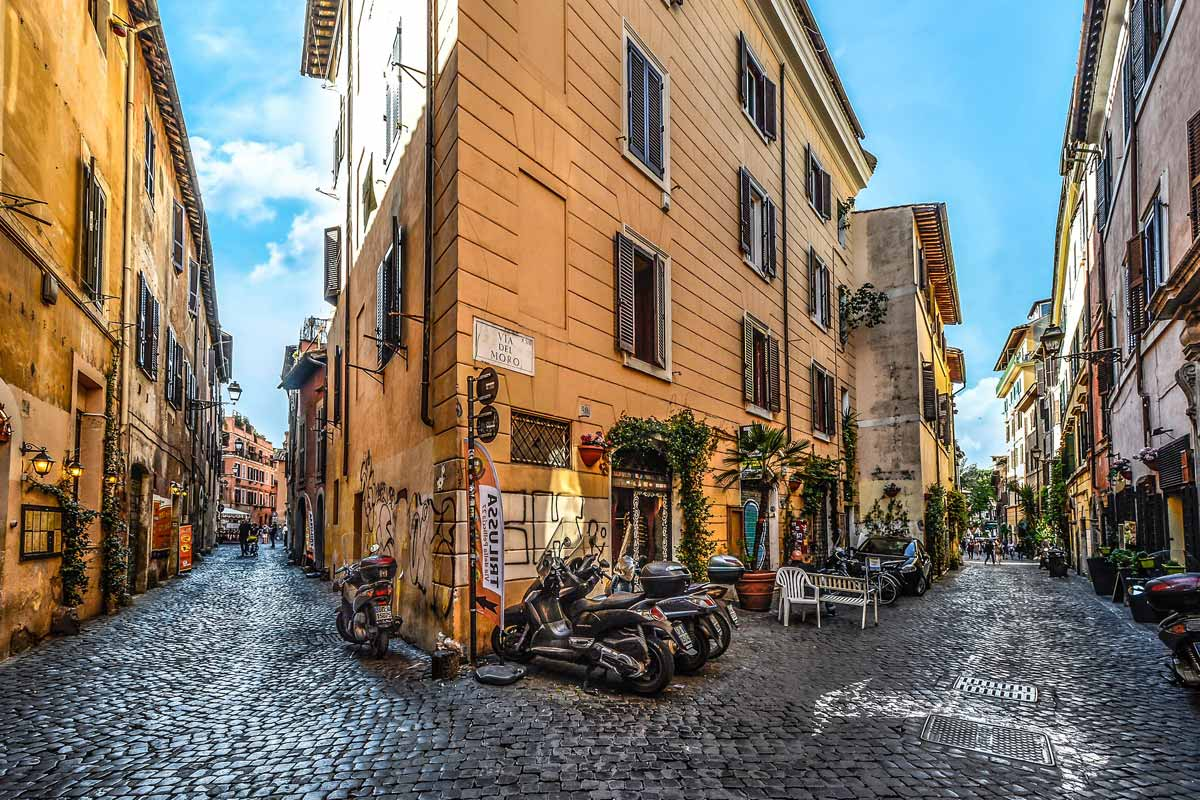 3 days in rome itinerary-trastevere