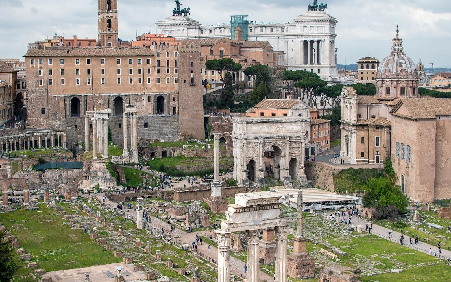 roman forum panoramic view