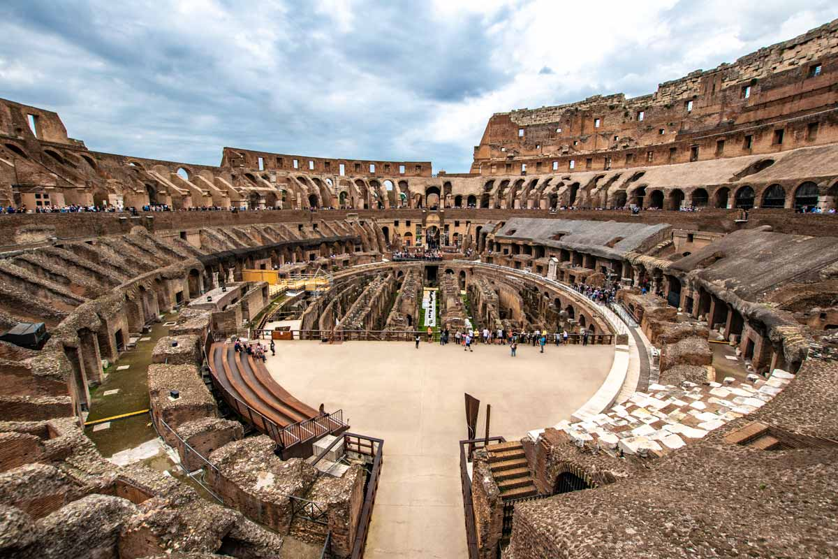 rome itinerary inside the colosseum