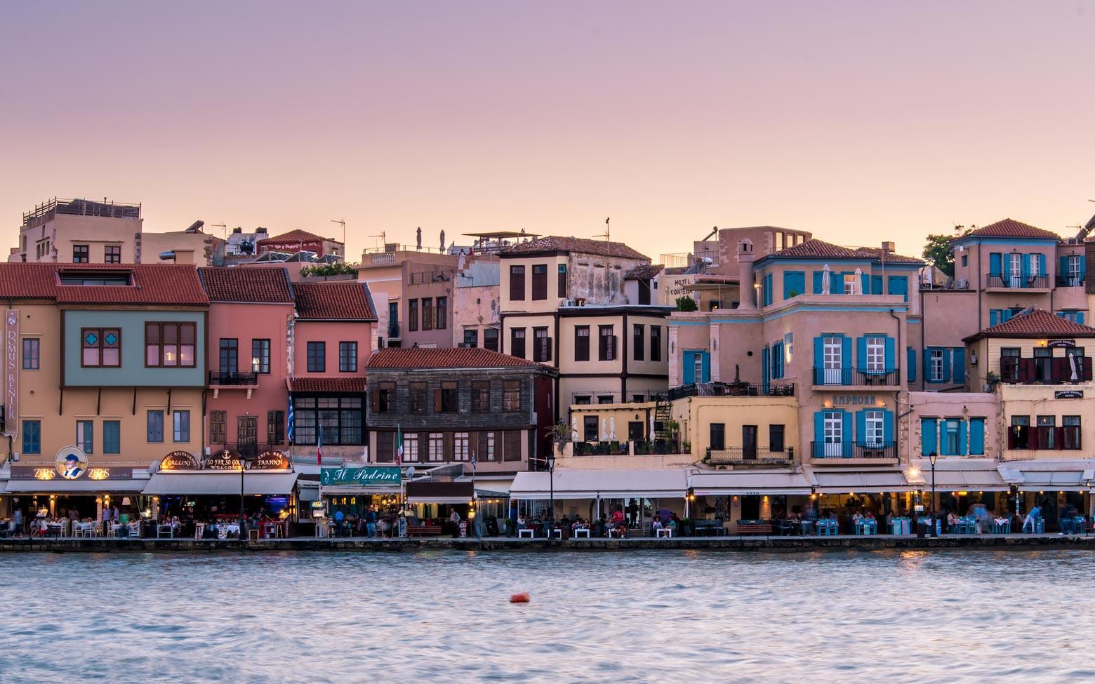Crete Photo - venetian harbor in Chania