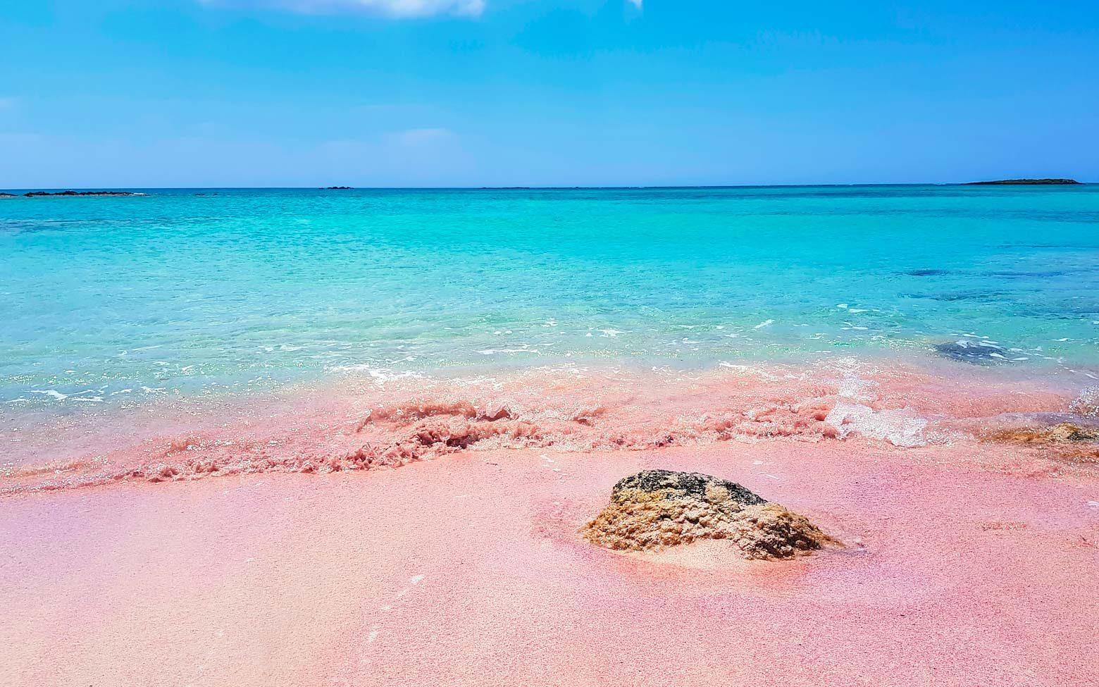 Crete Photo - pink sands elafonissi beach