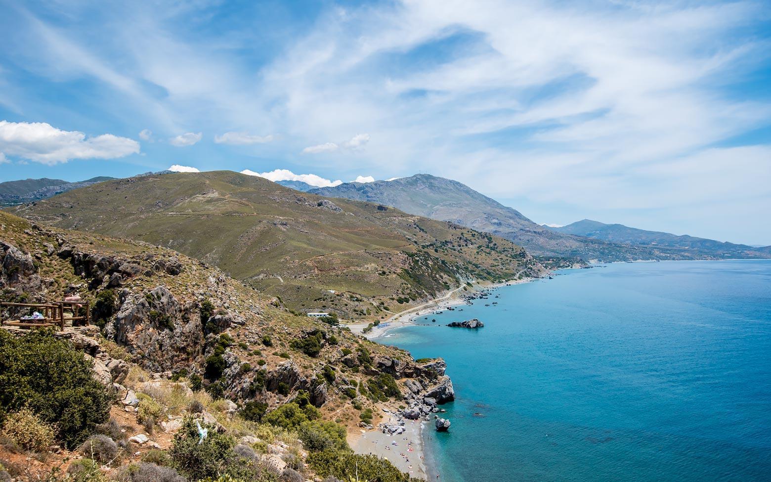 Island of Crete, Azure waters