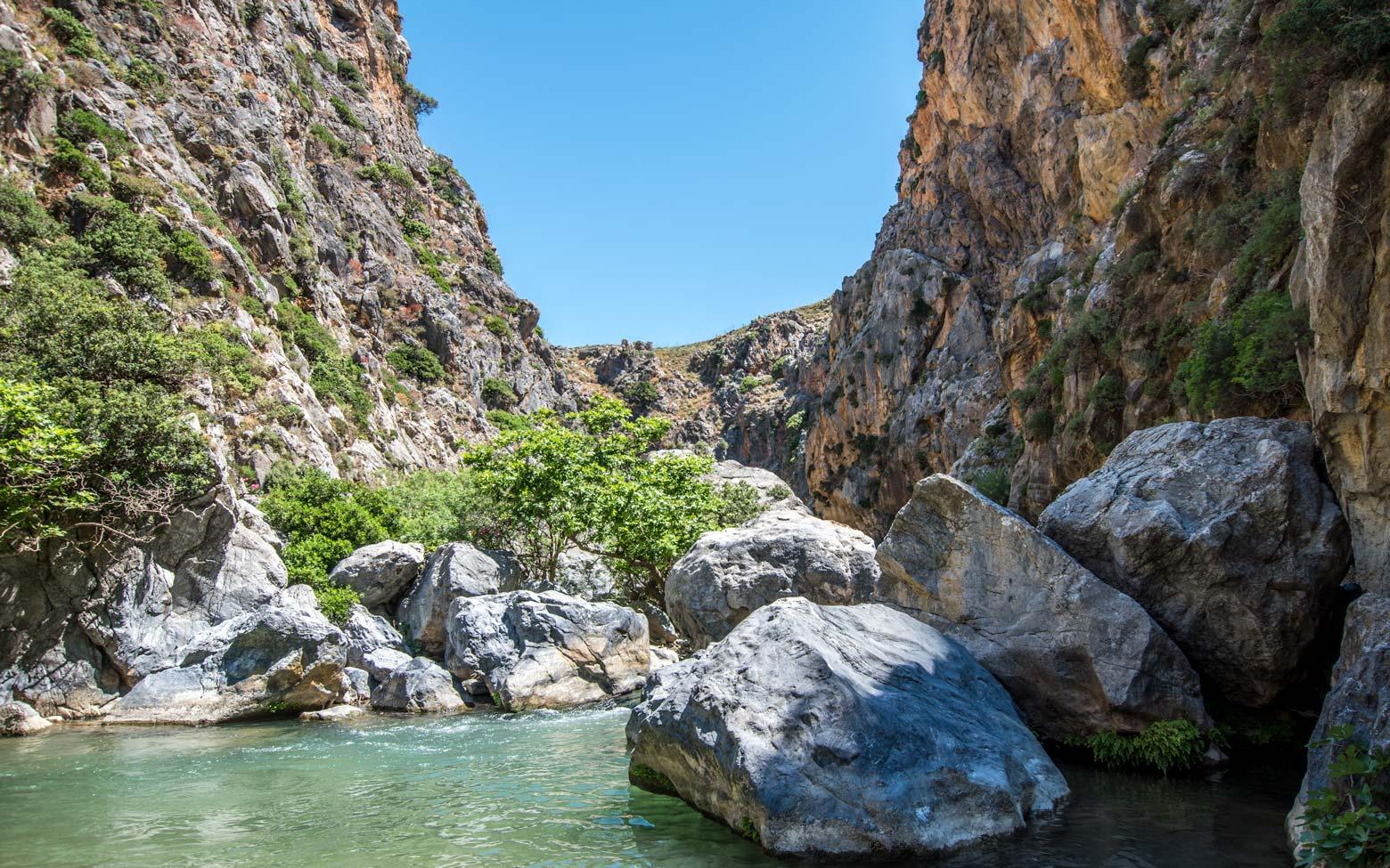 photo crete - palm canyon preveli
