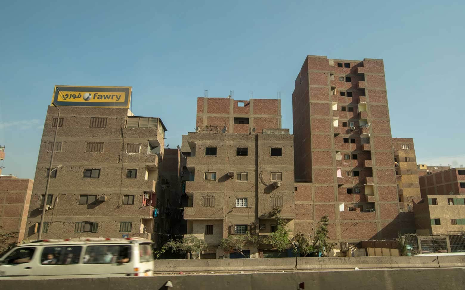buildings without a facade in Cairo