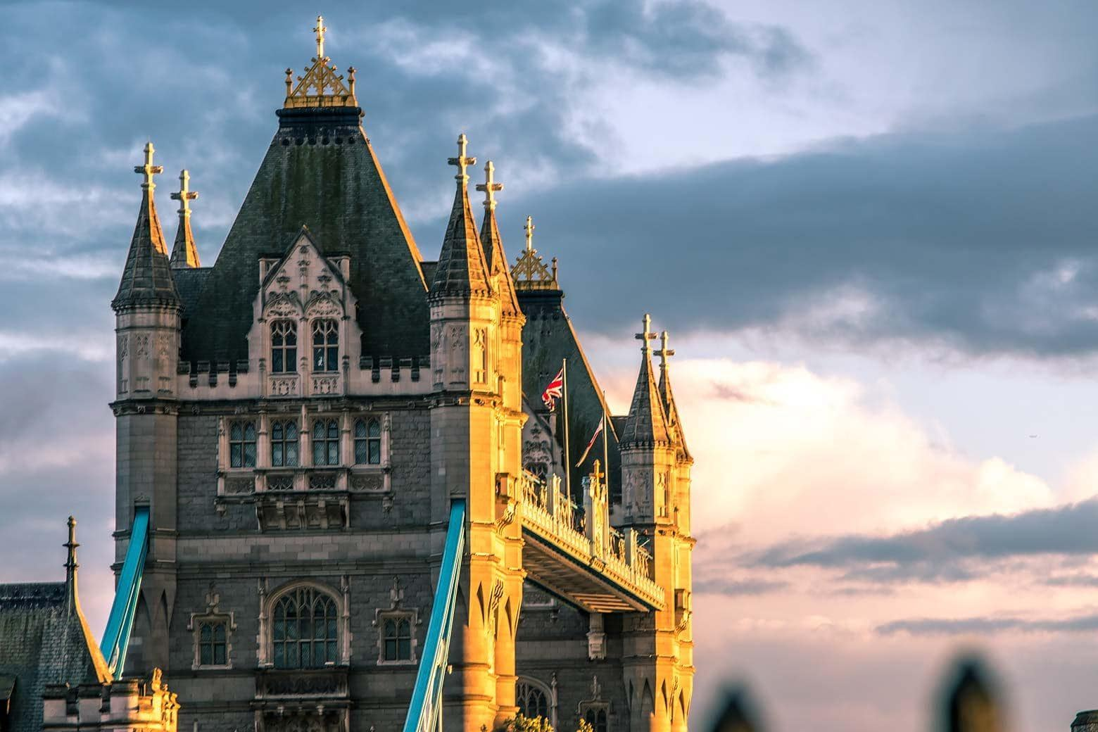 tower bridge london on sunset