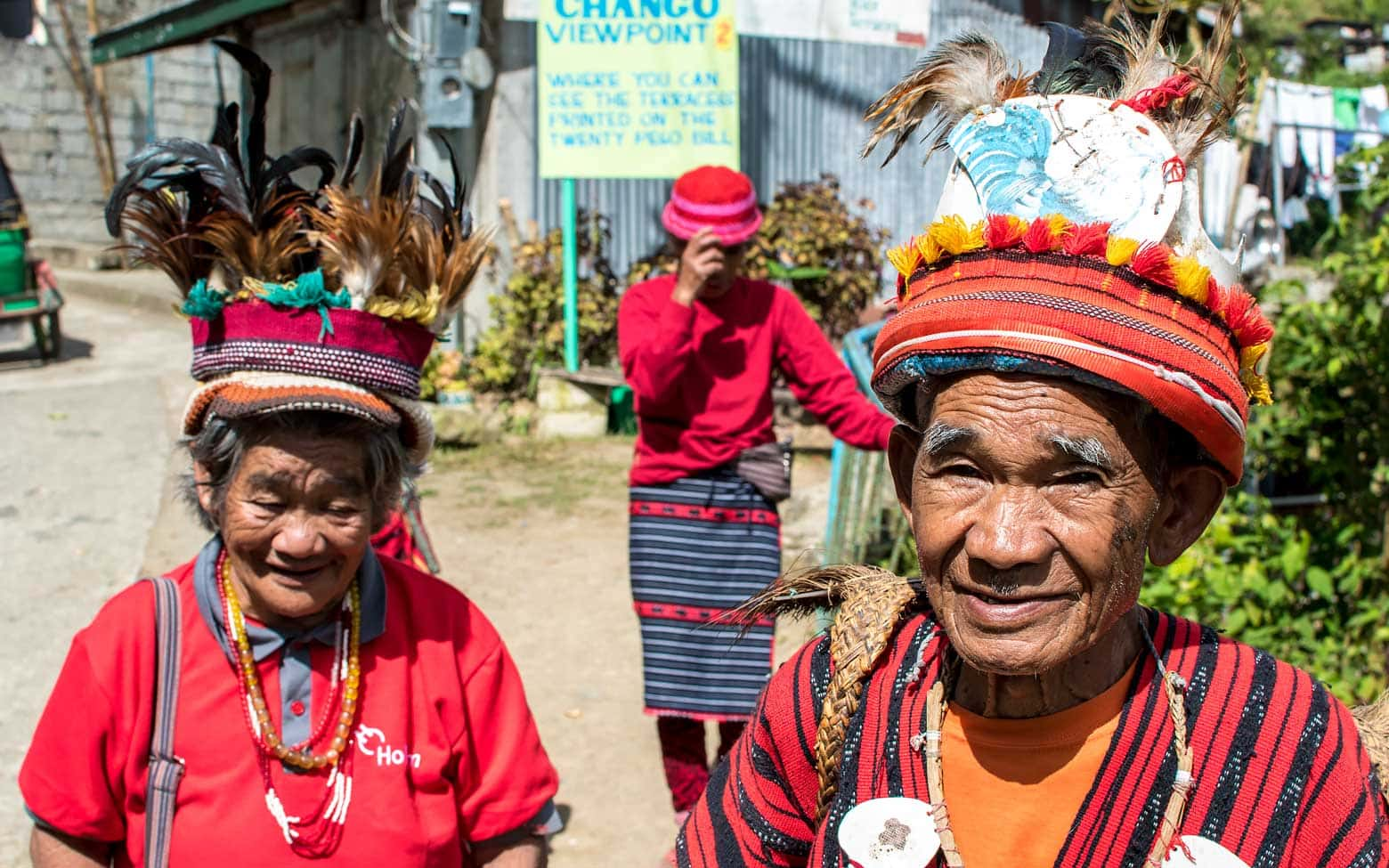 old folks in the Philippines in national dresses