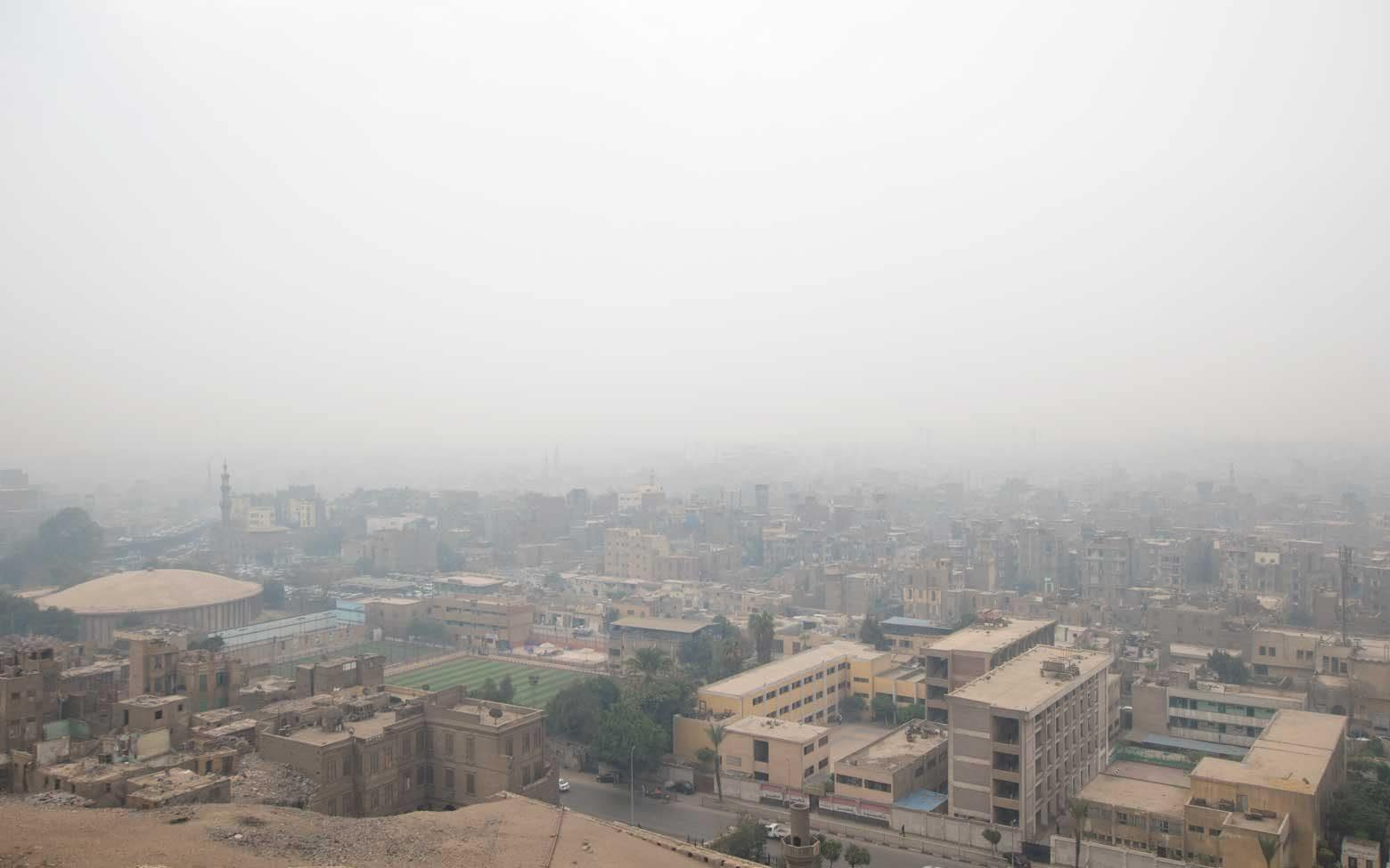 smog in cairo,egypt. View from the citadel