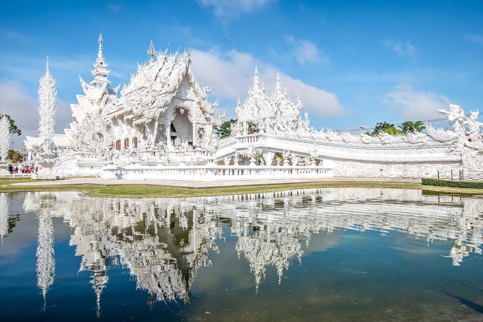 white temple, Chiang Rai, Tahiland