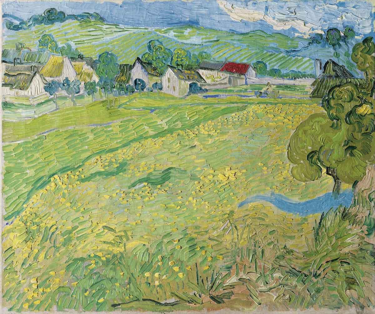 View of Vessenots, Auvers, by Vincent Van Gogh