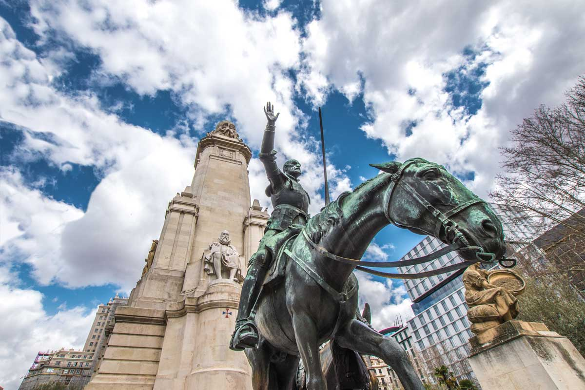 Don Quixote monument in Madrid