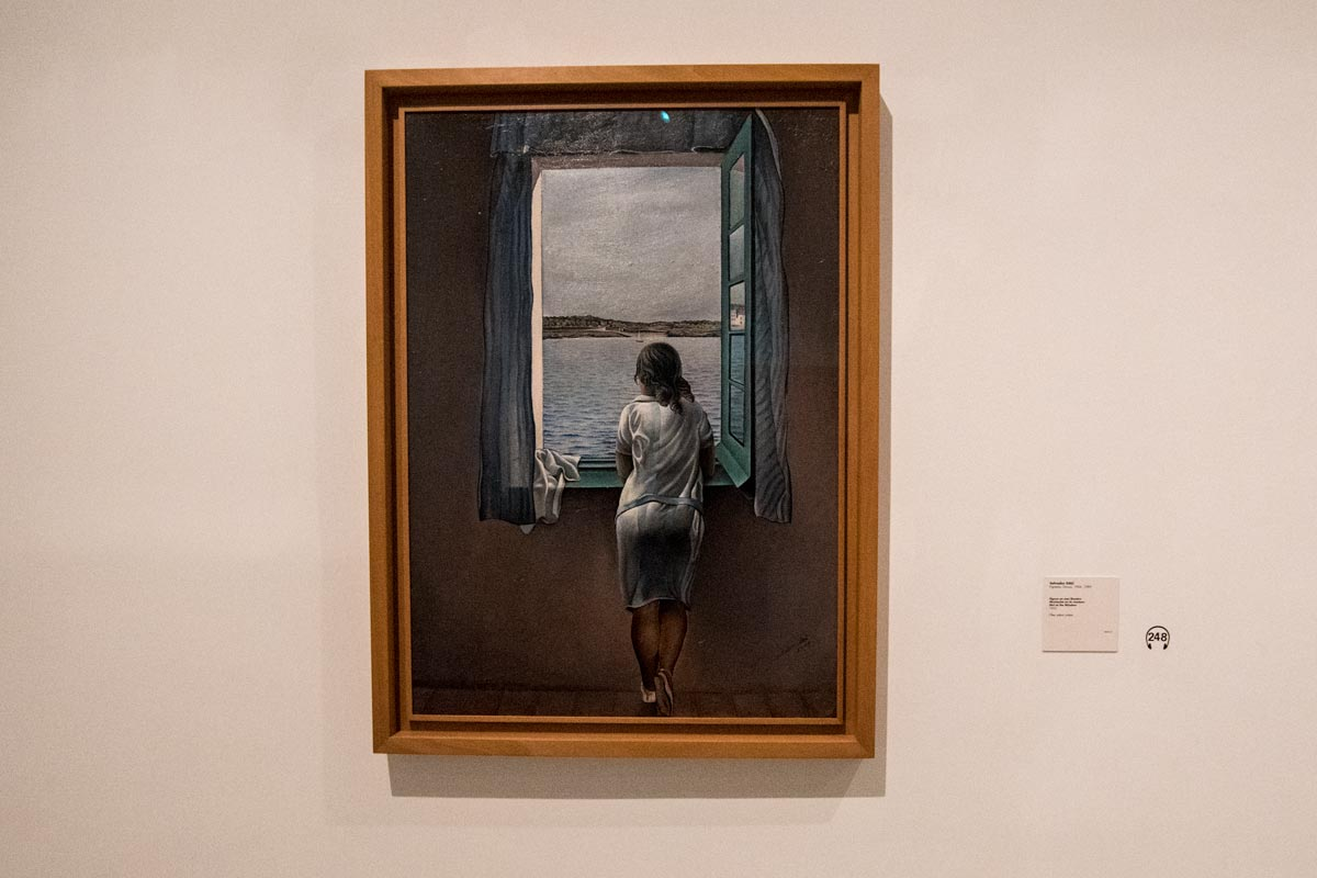 Salvador Dali's Girl at a Window painting