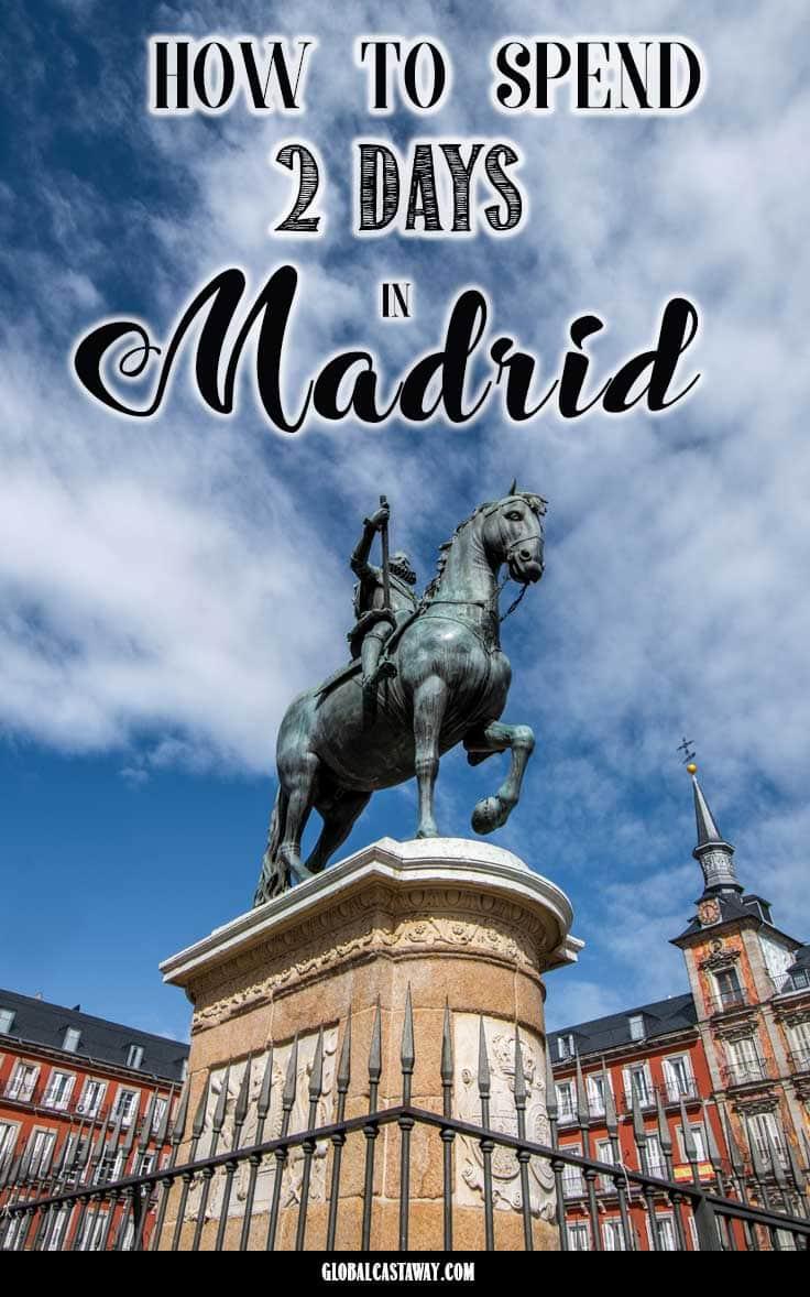 Madrid itinerary pin
