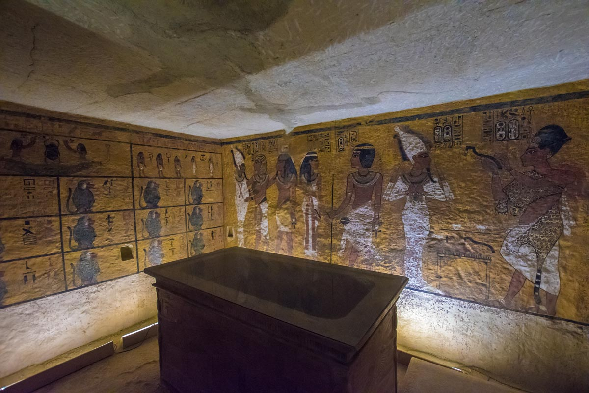 Howard Carter's house also have a complete replica of King Tut's tomb