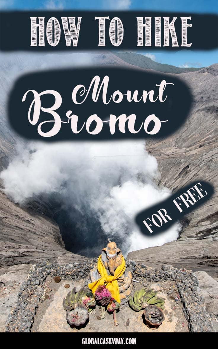 See a detailed guide how to hike Mount Bromo without paying hundreds of dollars for tours #mountbromo #indonesia #travelindonesia #travelasia #volcano #bromo