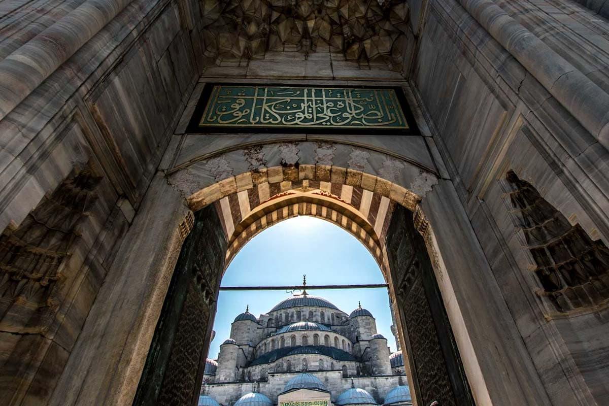 blue-mosque-framed-by-a-door
