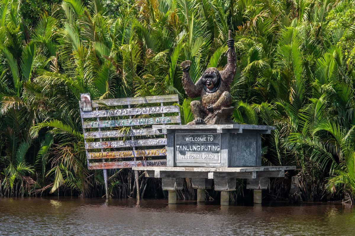 Borneo Orangutan Tour - Tanjung Puting National Park entrance