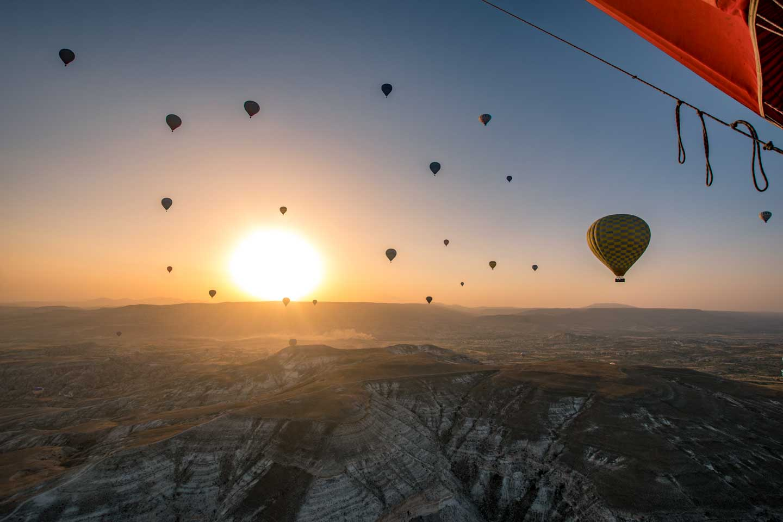 cappadocia hot air balloons sunrise