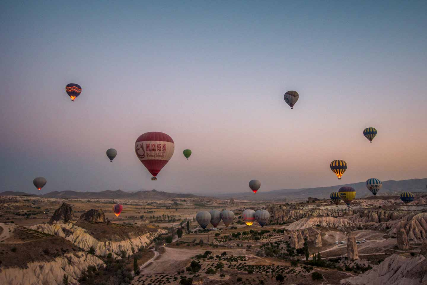 cappadocia hot air balloons take off