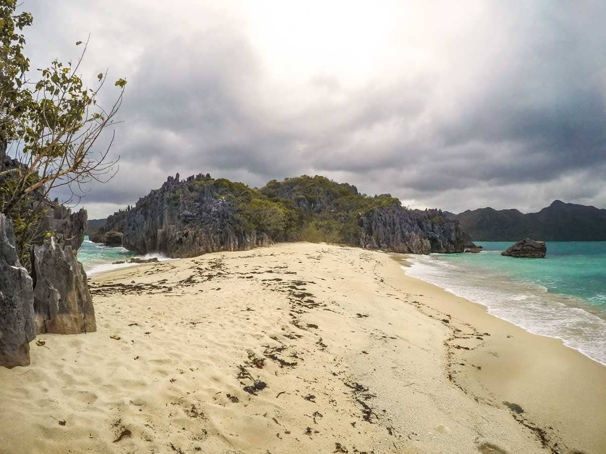 Twin beach in Caramoan, Philippines