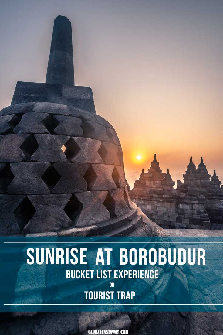 find out everything you need to know about catching the sunrise at borobudur. Is the ecperience in the borobudur temple worth it to be on your bucket list? #borobudur #borobudurtemple #borobudurindonesia #sunriseatborobudur #borobudurphotography