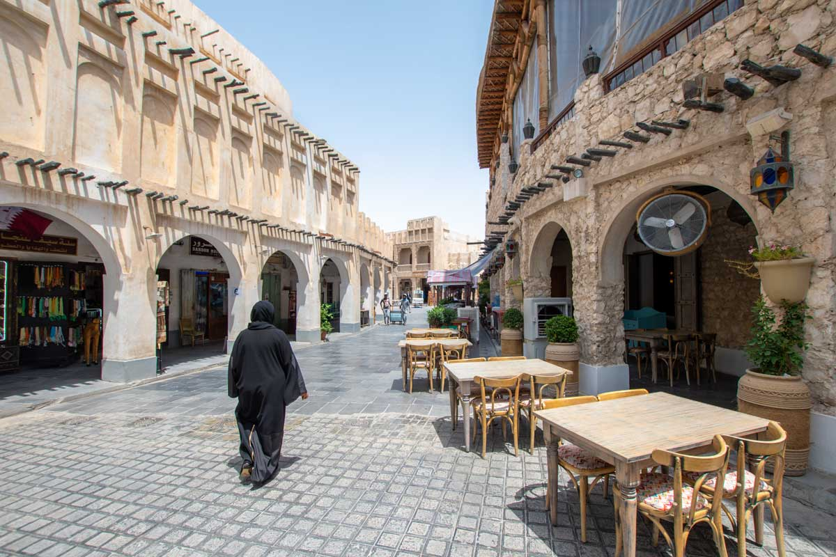 long doha layover - souq waqif