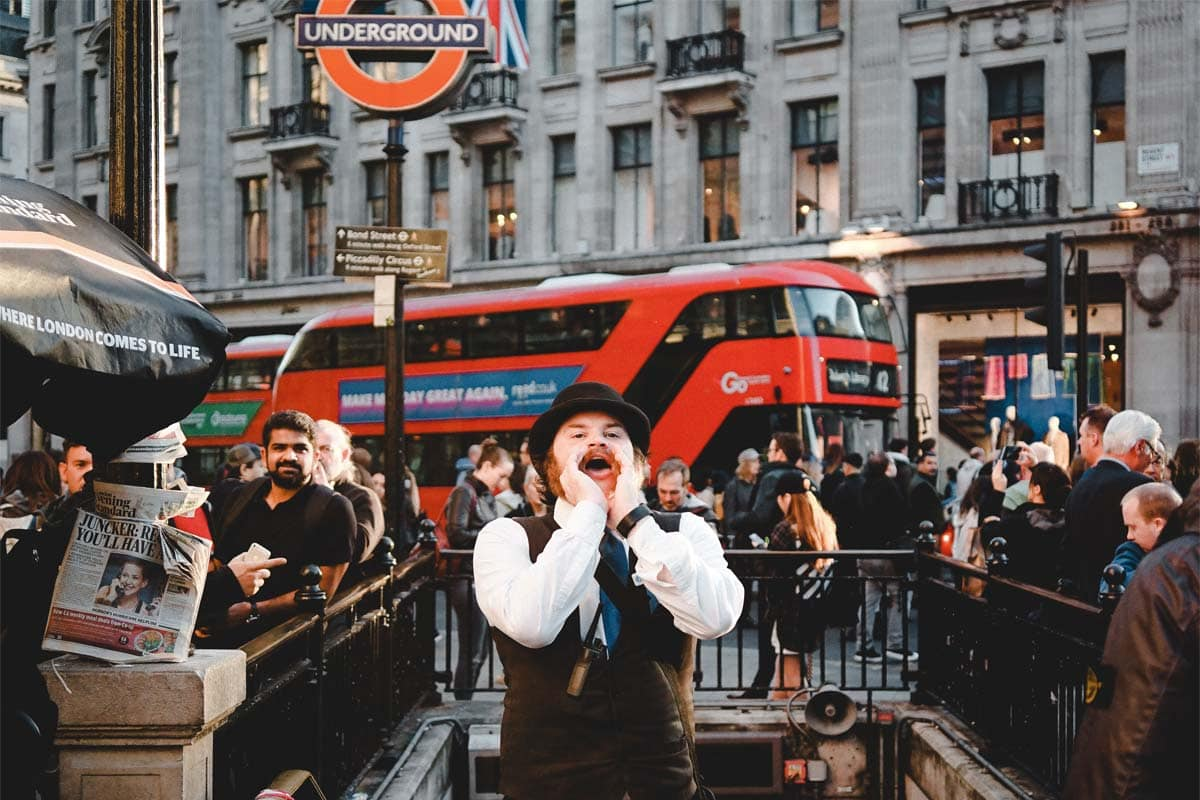 man-shouting-in-front-of-the-london-underground