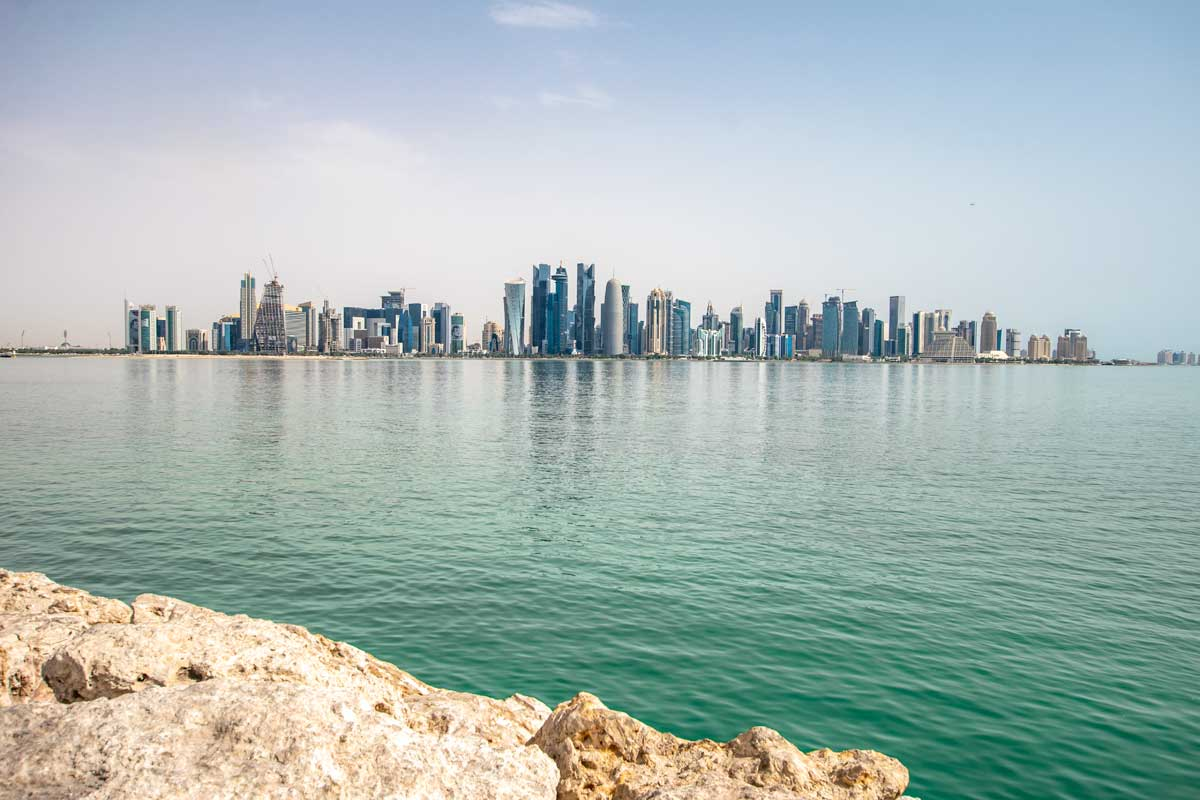 doha layover - doha city tour - harbor view