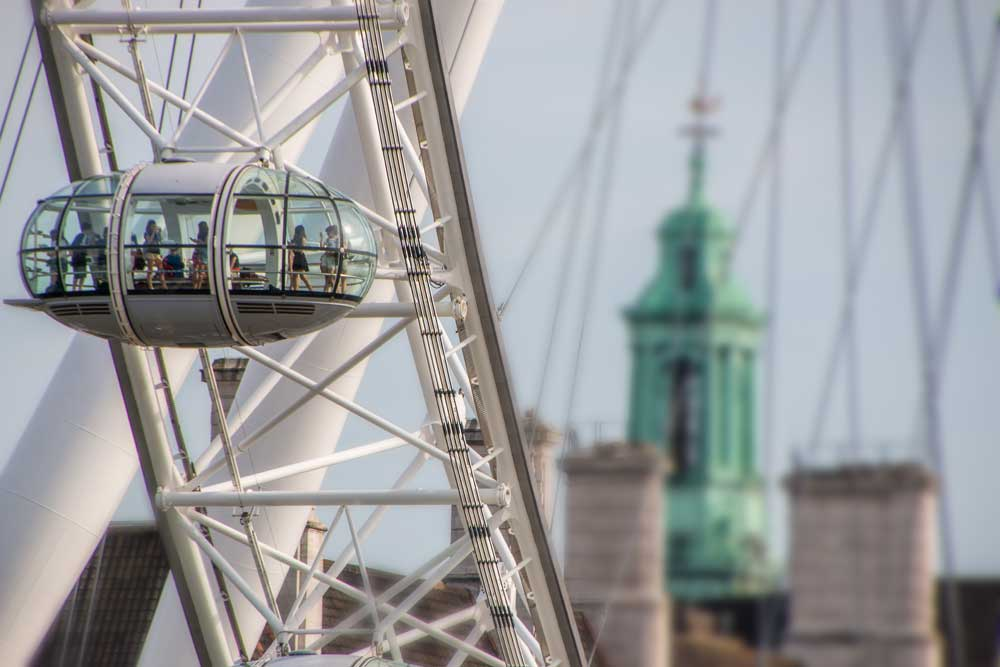 close up on a cabin of the eye of london