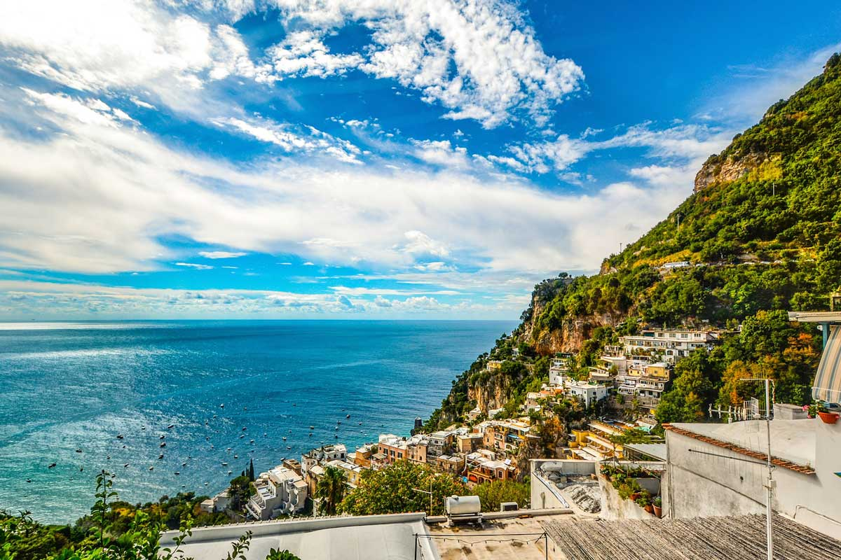 Italian UNESCO site - panoramic picture of the Amalfi Coast
