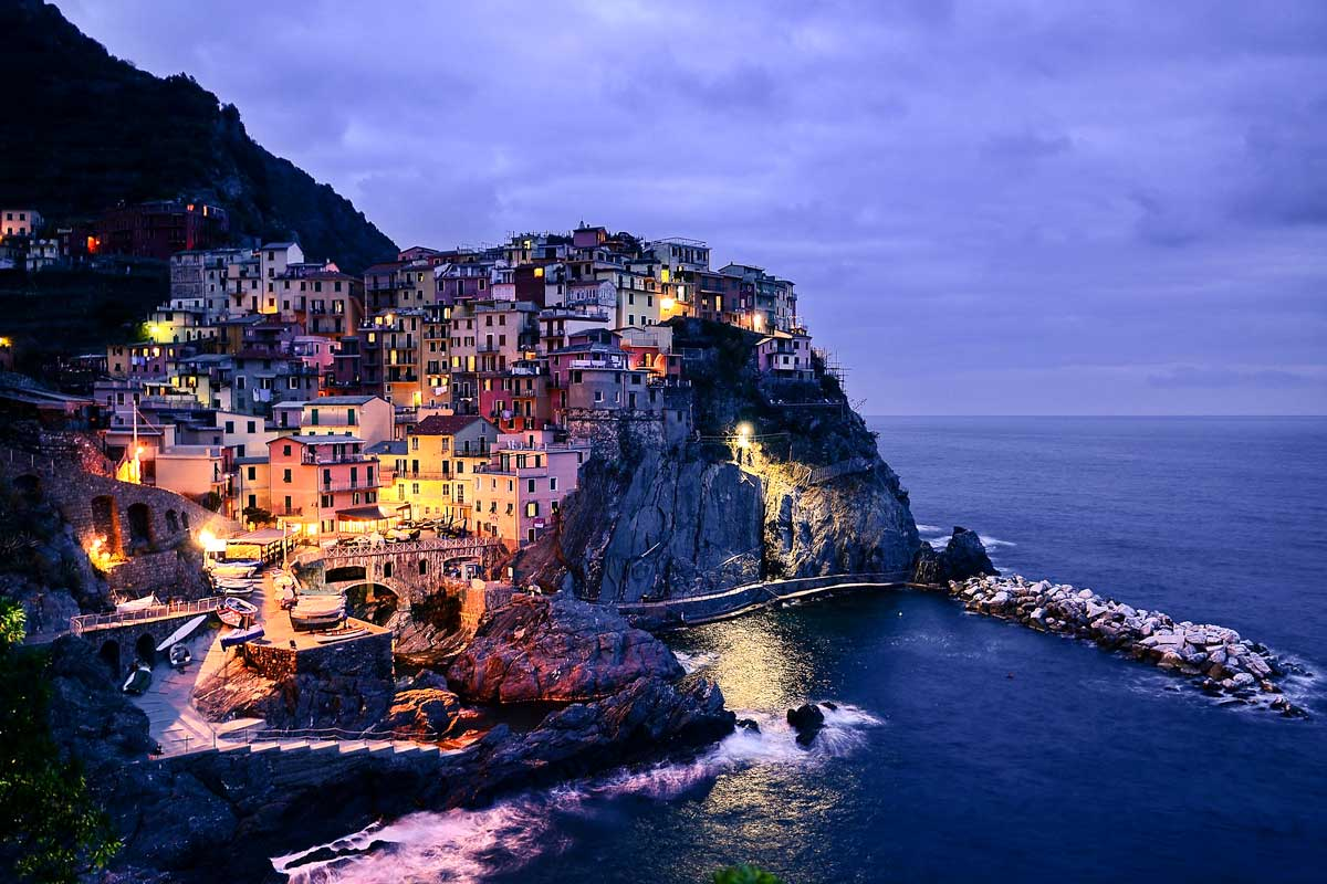 Top UNESCO World Heritage Sites in Italy - Cinque Terre at dawn