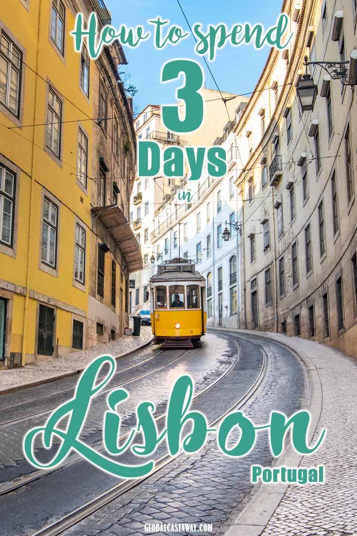 3 days in Lisbon pin