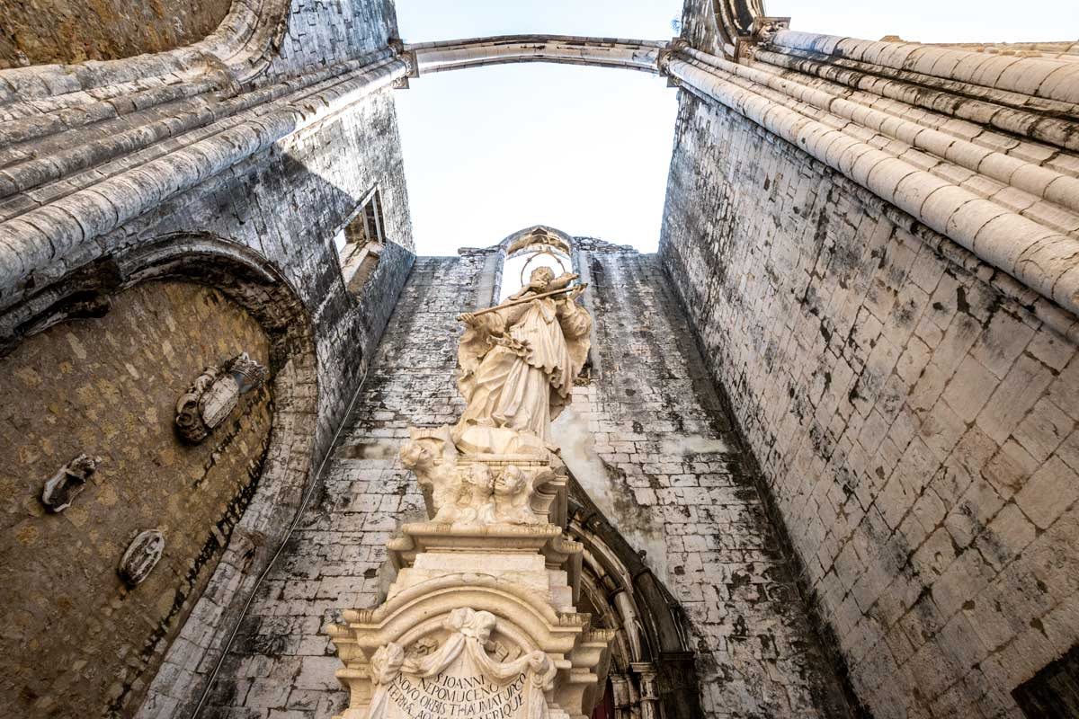 3 days in lisbon itinerary-carmo-convent