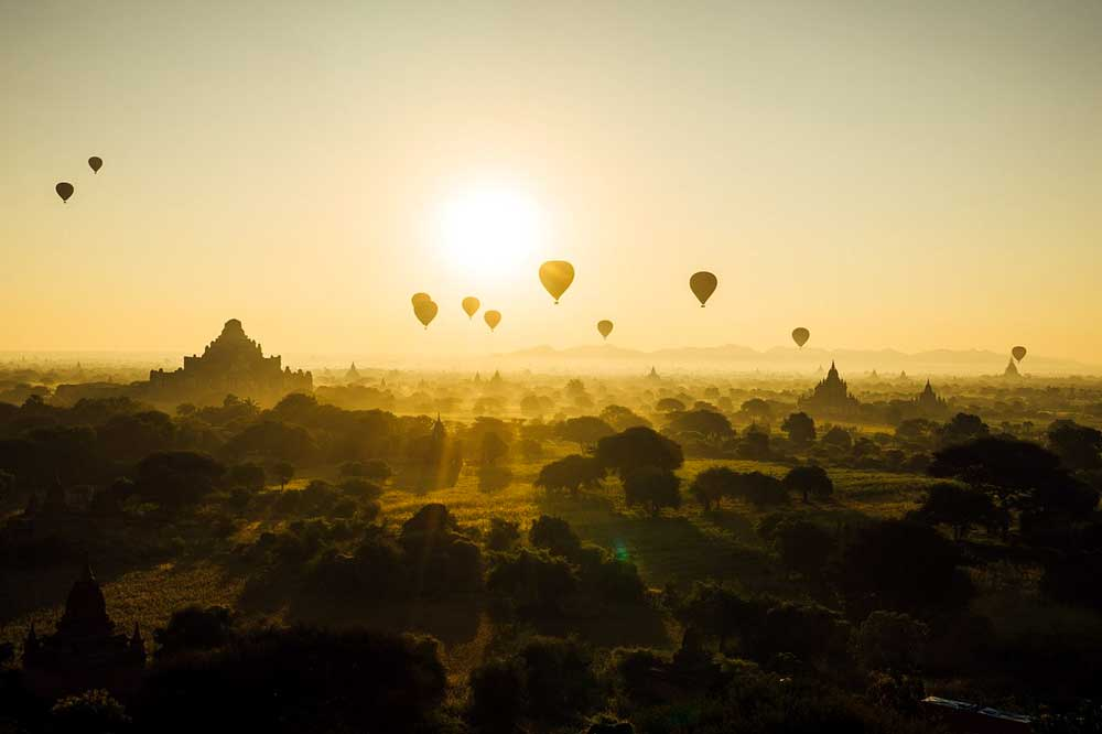 balloons over bagan, myanmar southeast-asia-bucket-list