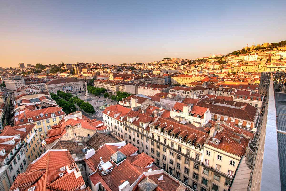panoramic view over lisbon