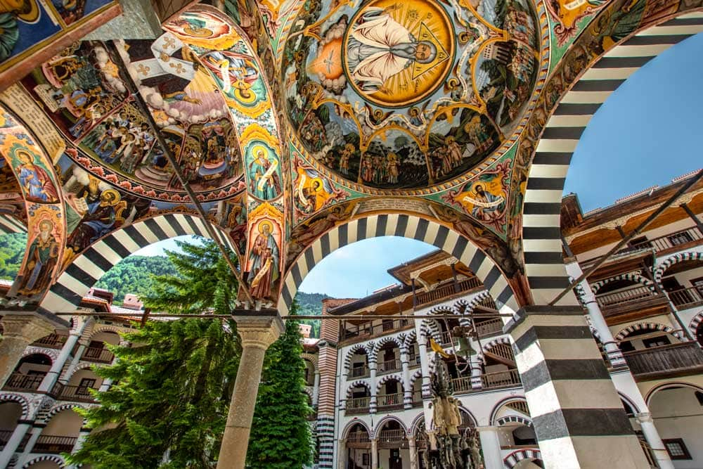 unique bucket list ideas - rila monastery in bulgaria