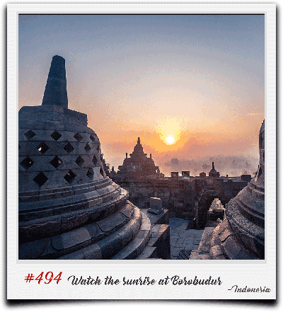 Global Castaway bucket list - sunrise in borobudur