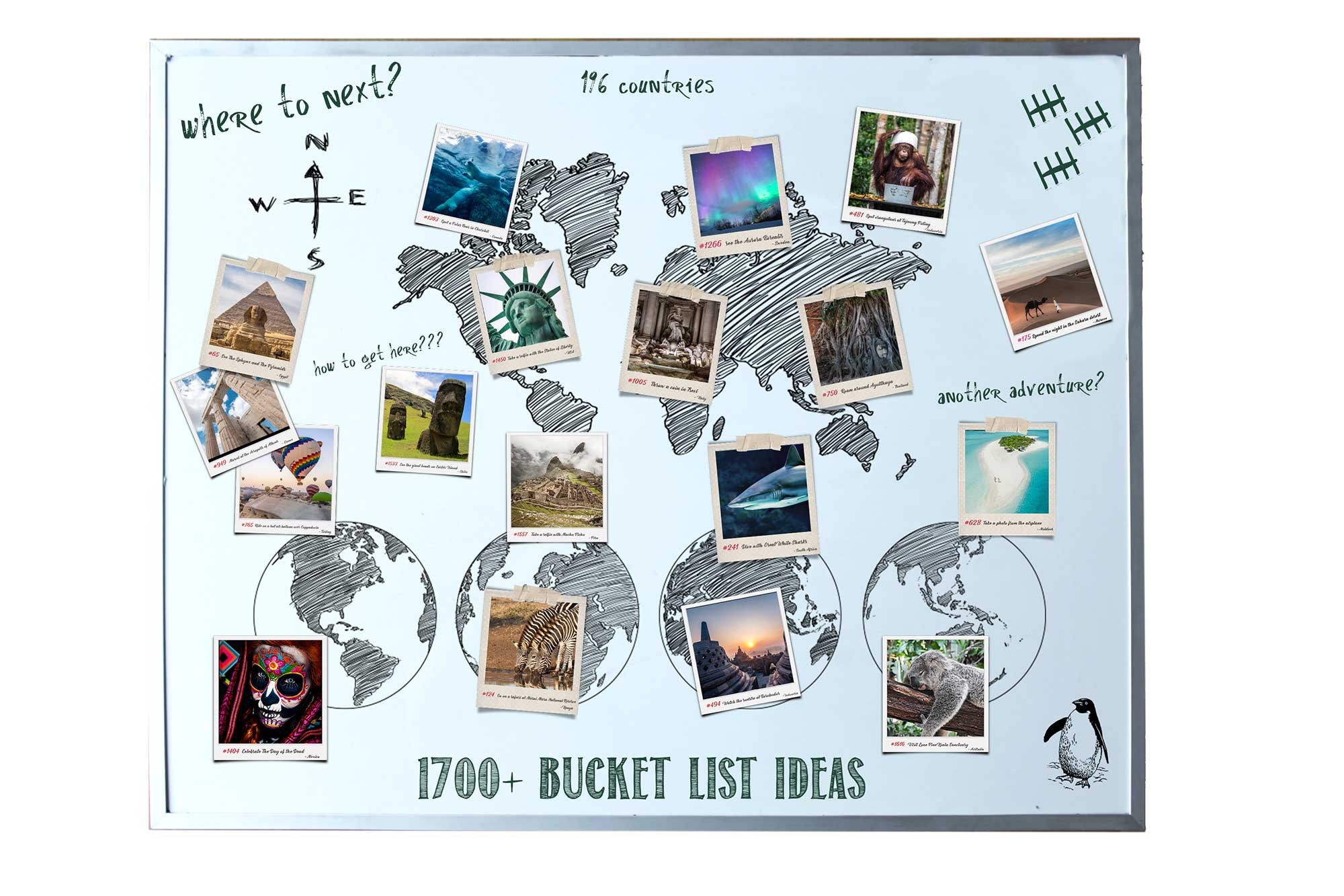 my cool bucket list ideas - whiteboard
