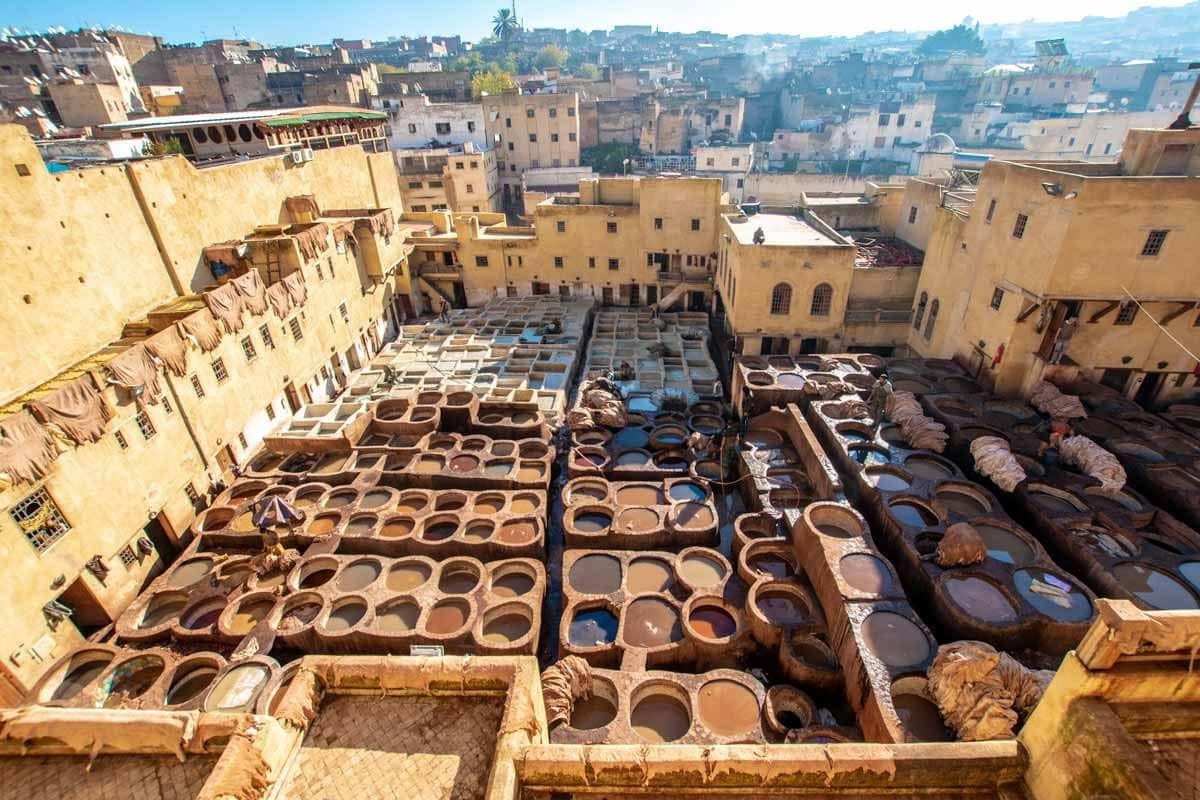 landmarks in Morocco - chouara tannery