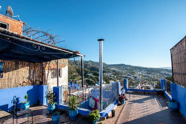 where to stay in chefchaouen - casa yamina