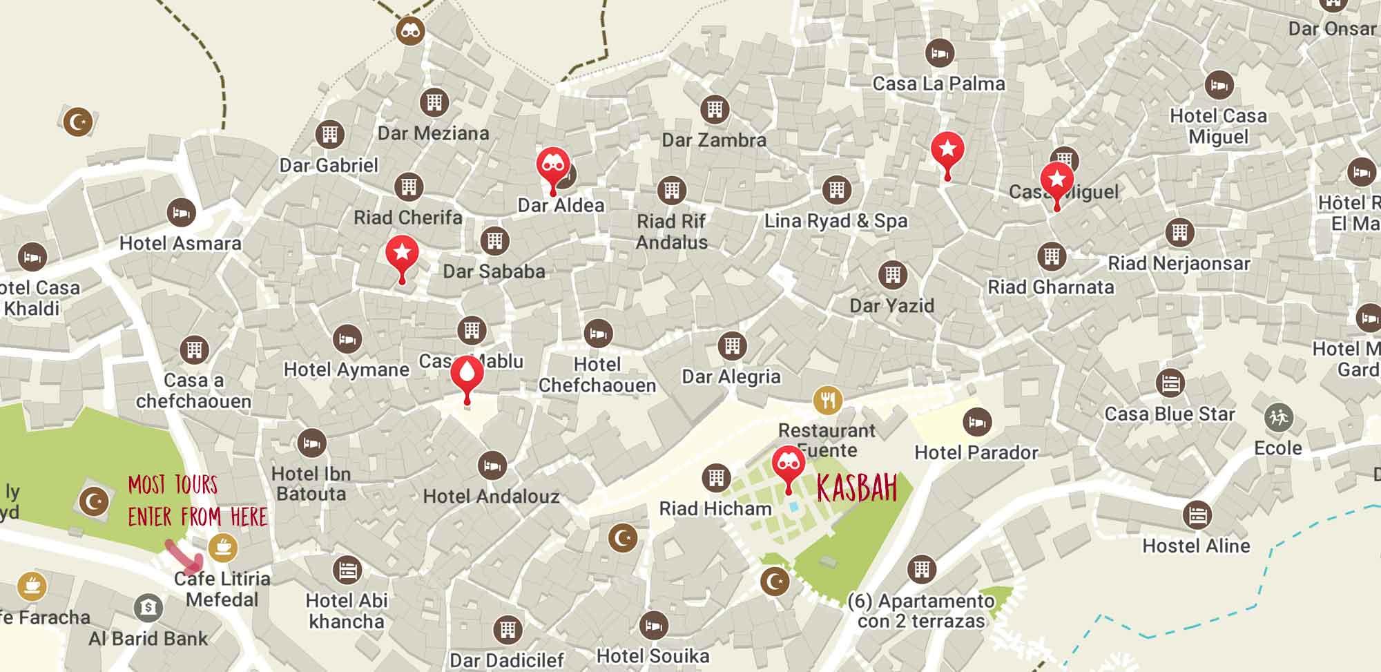chefchaouen-kasbah-map