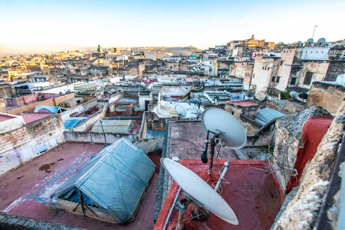 panorama of fes, morocco