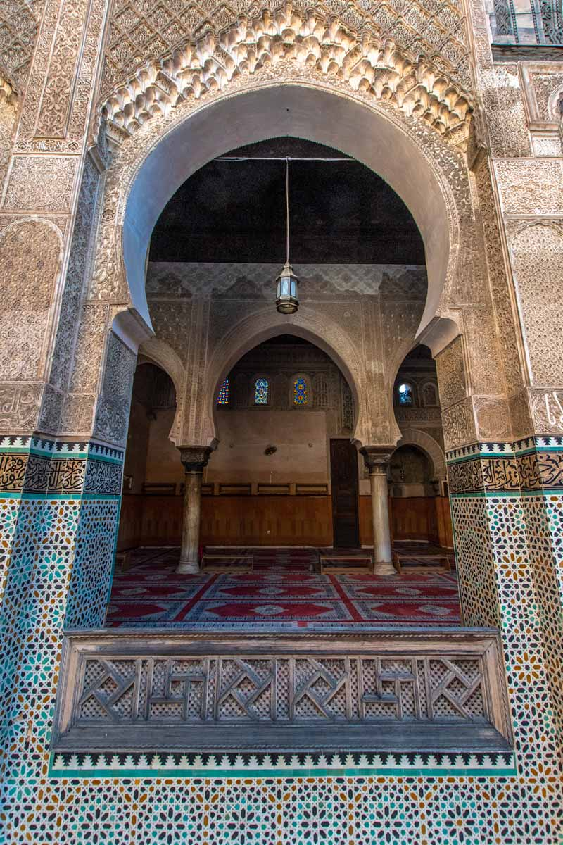 decorated madrasa in fes