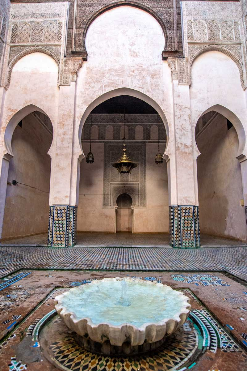 two days in mes - madrasa fountain