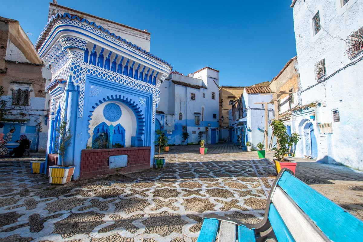 chefchaouen water fountain