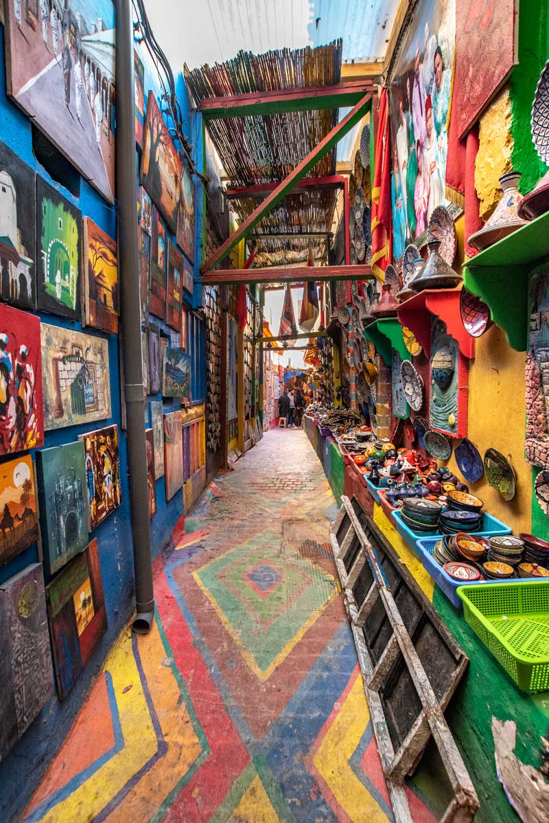The Rainbow Street of Fes