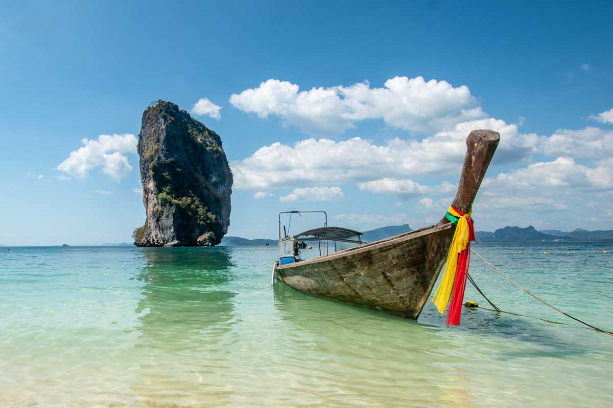thai long boat in Krabi southeast asia bucket list