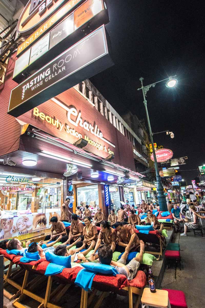 Thailand itinerary - Khao San massage