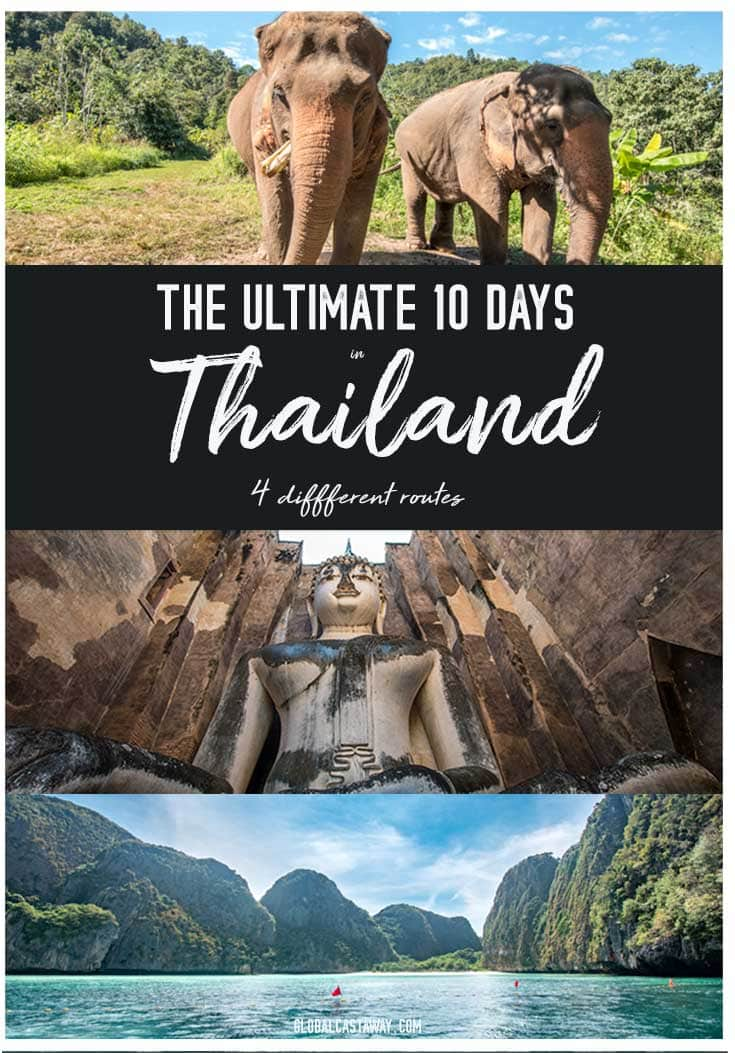 10 days Thailand itinerary pin