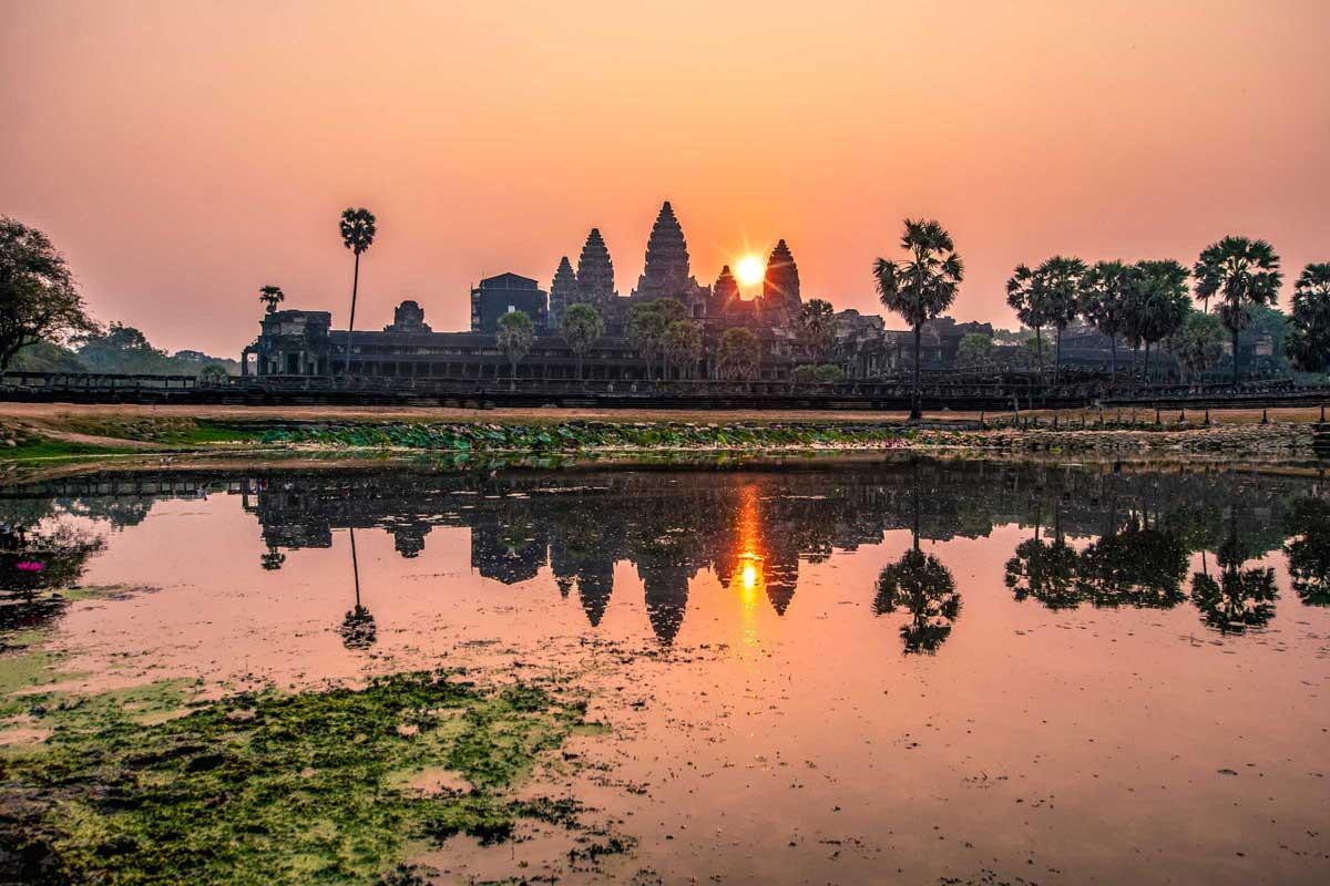 Beautiful Angkor Wat sunrise