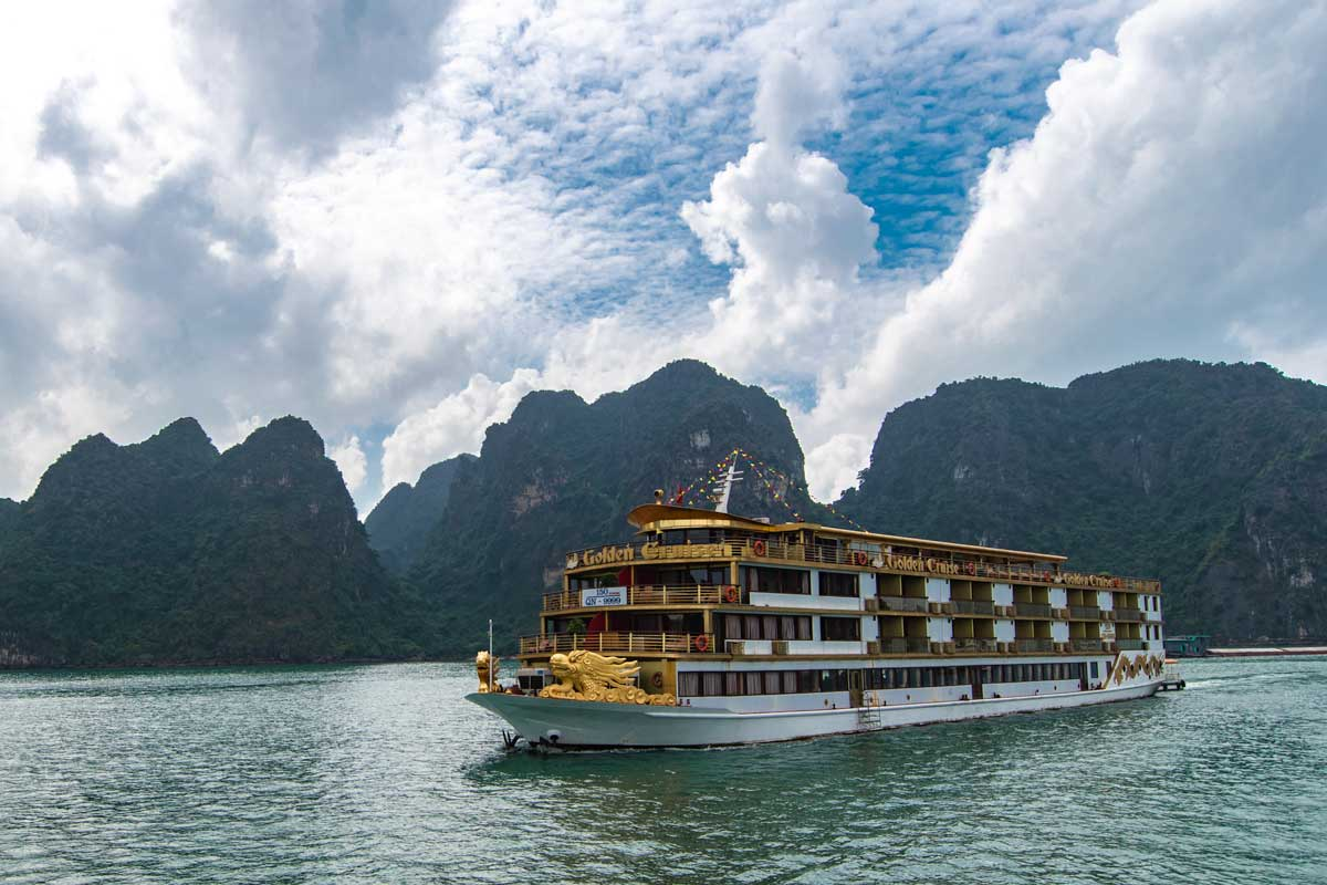 Halong Bay cruise modern ship